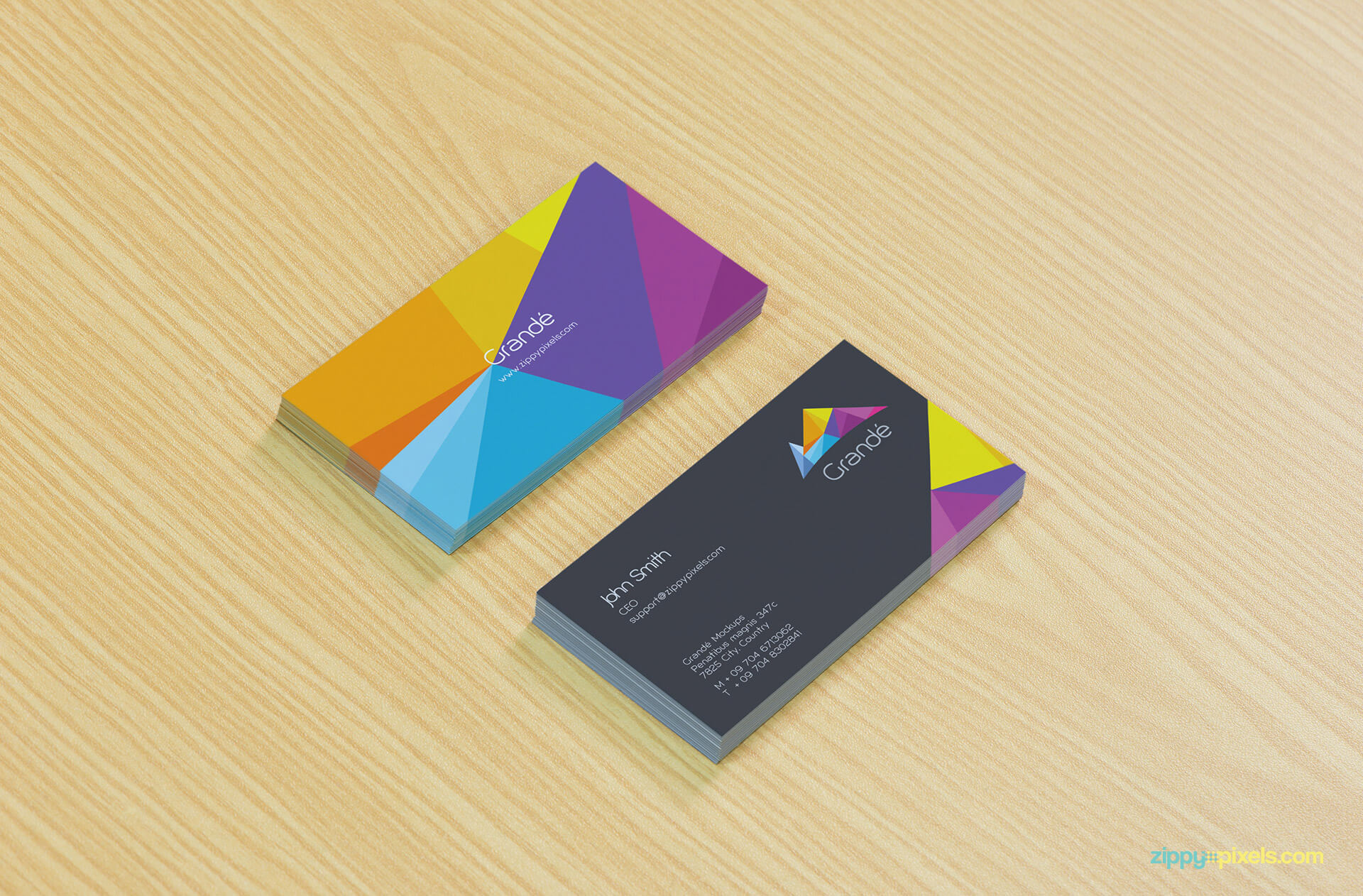 Business Cards Mockup on Table