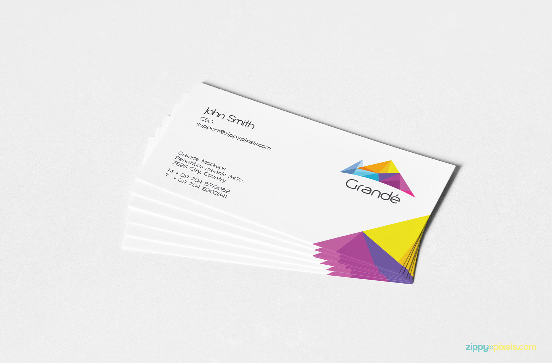 Branding Mockup of Business Card Stack