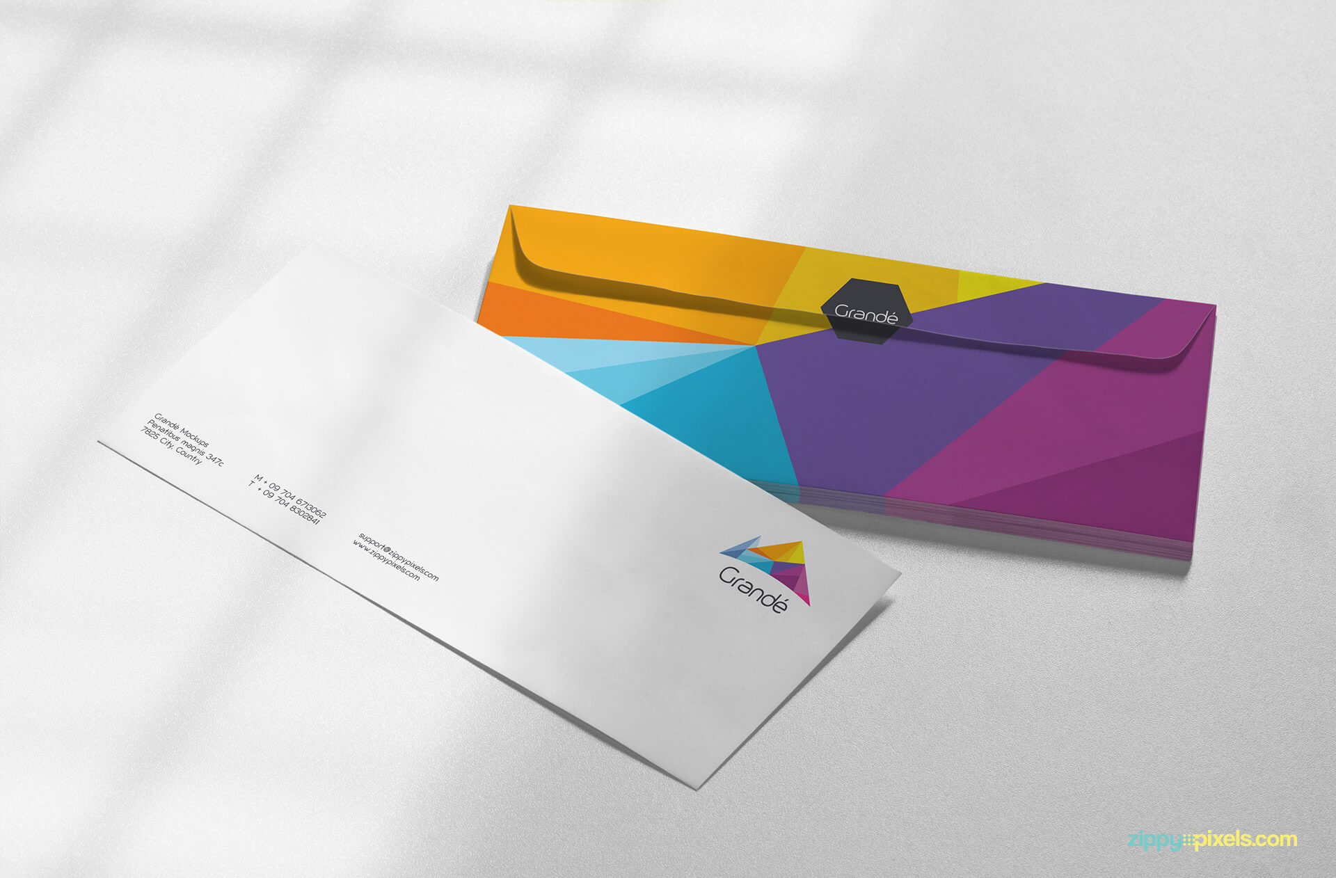 Marvelous Stationery Mockup Of 2 Envelopes