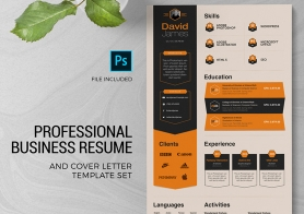 Professional Business Resume & Cover Letter Template Set – 3 Color Versions