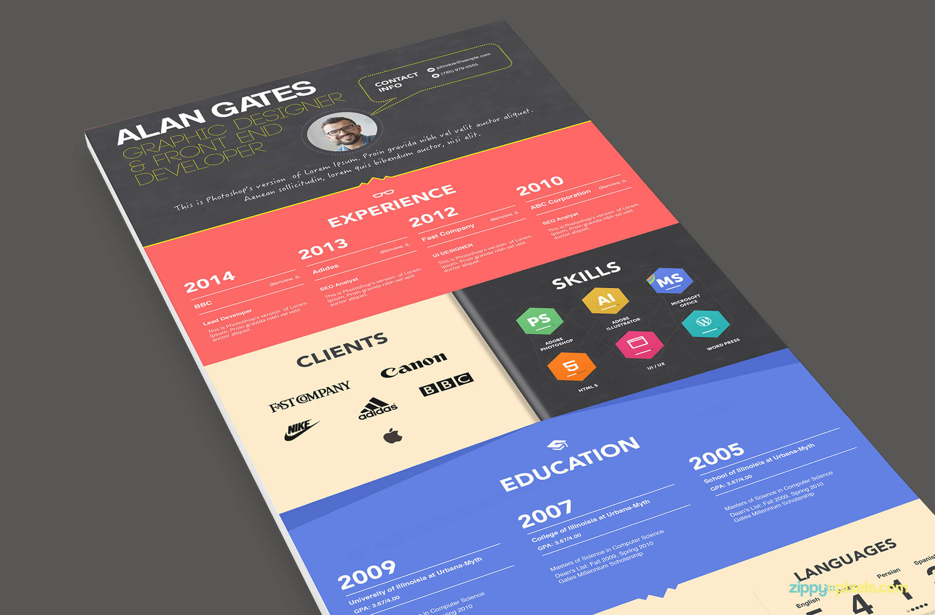 Multipurpose Resume Template Color 1 -1