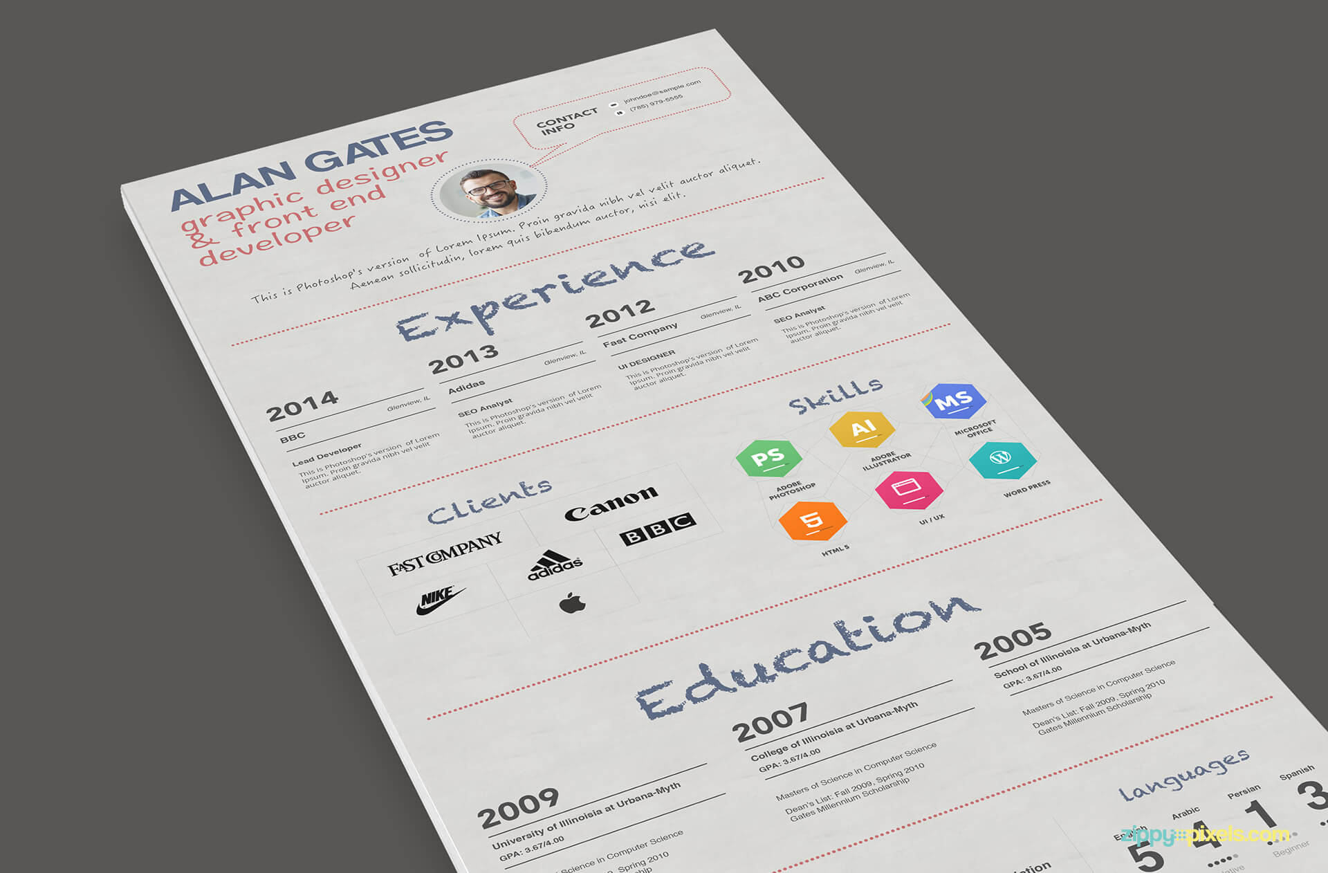 Multipurpose Resume Template Color 2