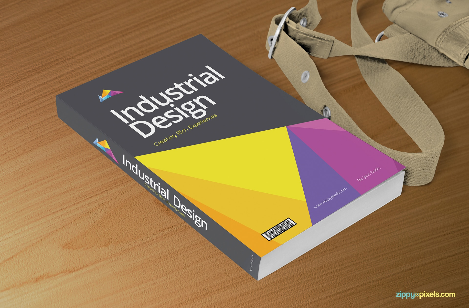 soft-cover-book-mockup-placed-on-wooden-surface-with-bag