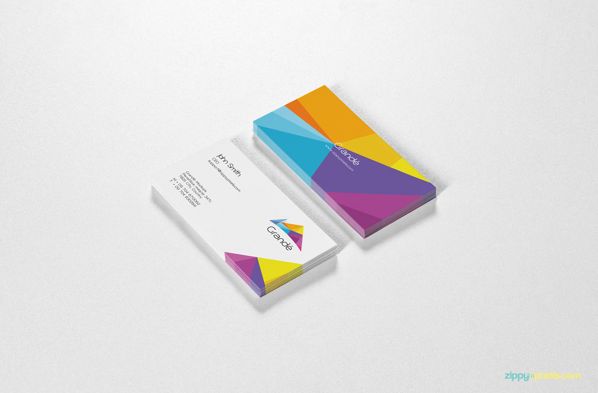 Branding Mockup of Two Business Cards