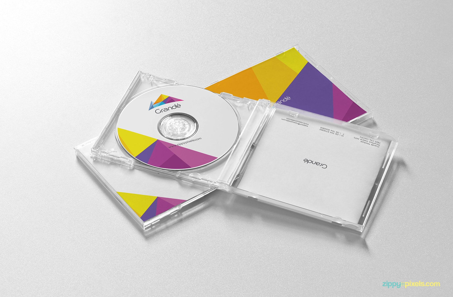 Brand Identity Mockup of CD Covers