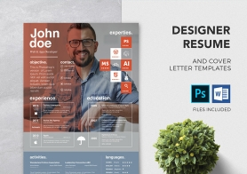 Free PSD Resume & Cover Letter Template | Premium MS Word Format