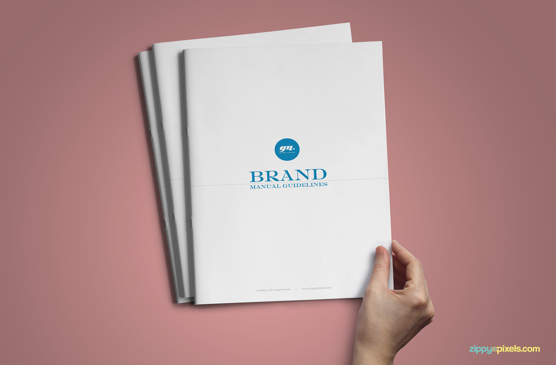 Book Cover Graphism Guide : Professional brand guidelines templates bundle