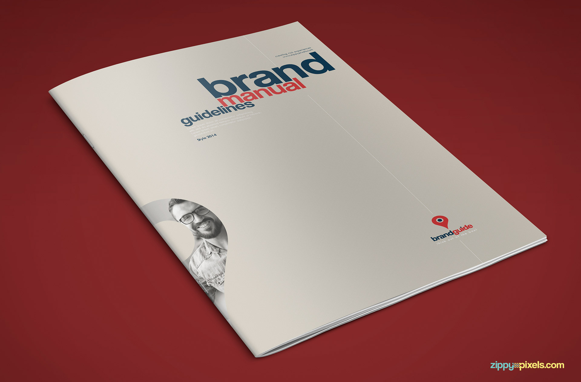 Front Cover of Professional Brand Guidelines Template