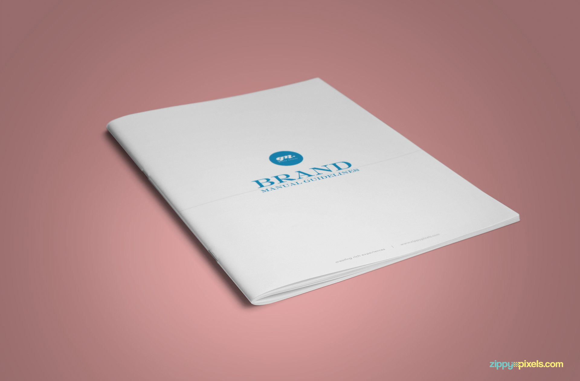 Front Cover of Clean Brand Book Template for Corprate Identity