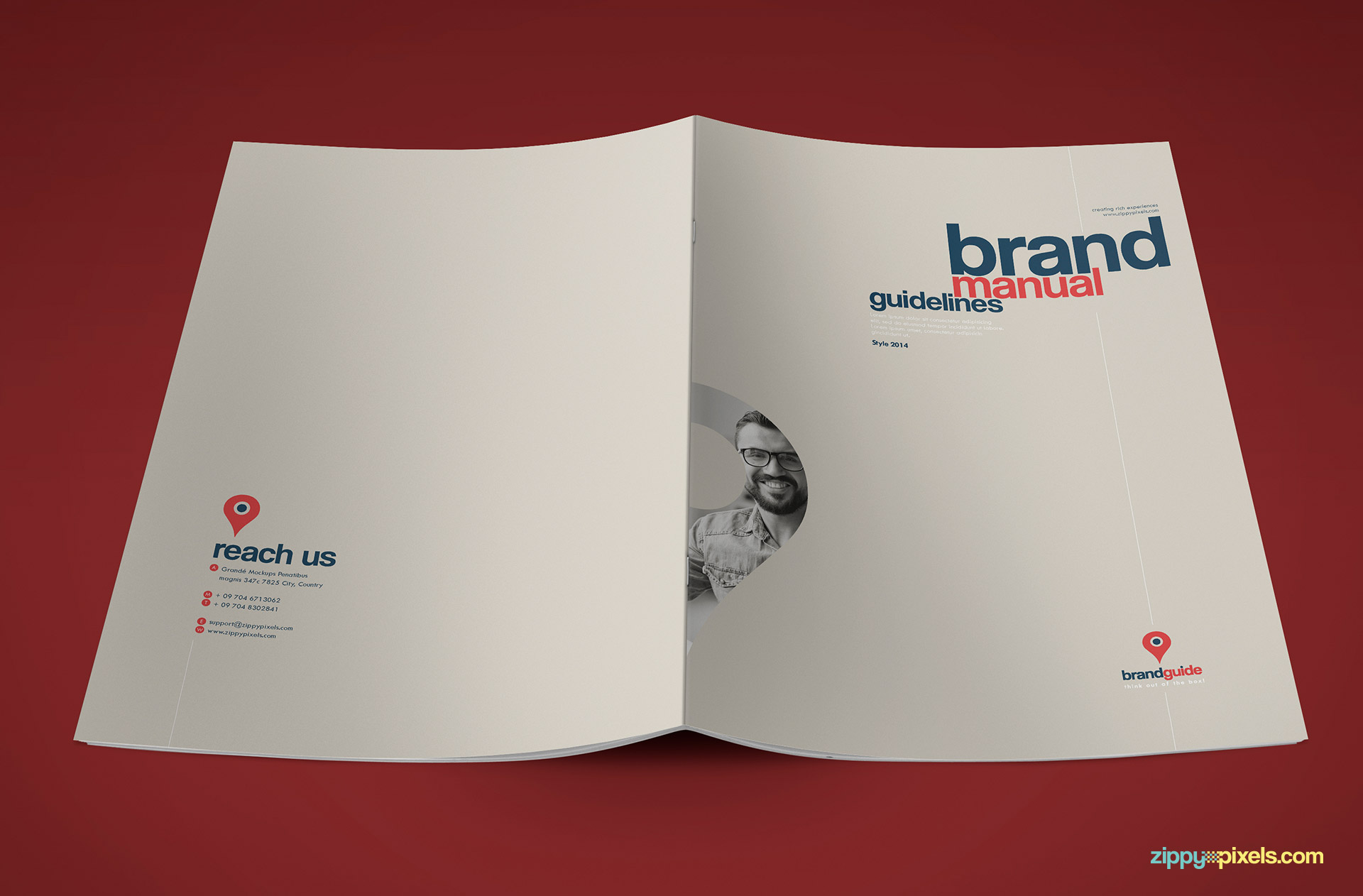 Full Cover of Professional Brand Guidelines Template