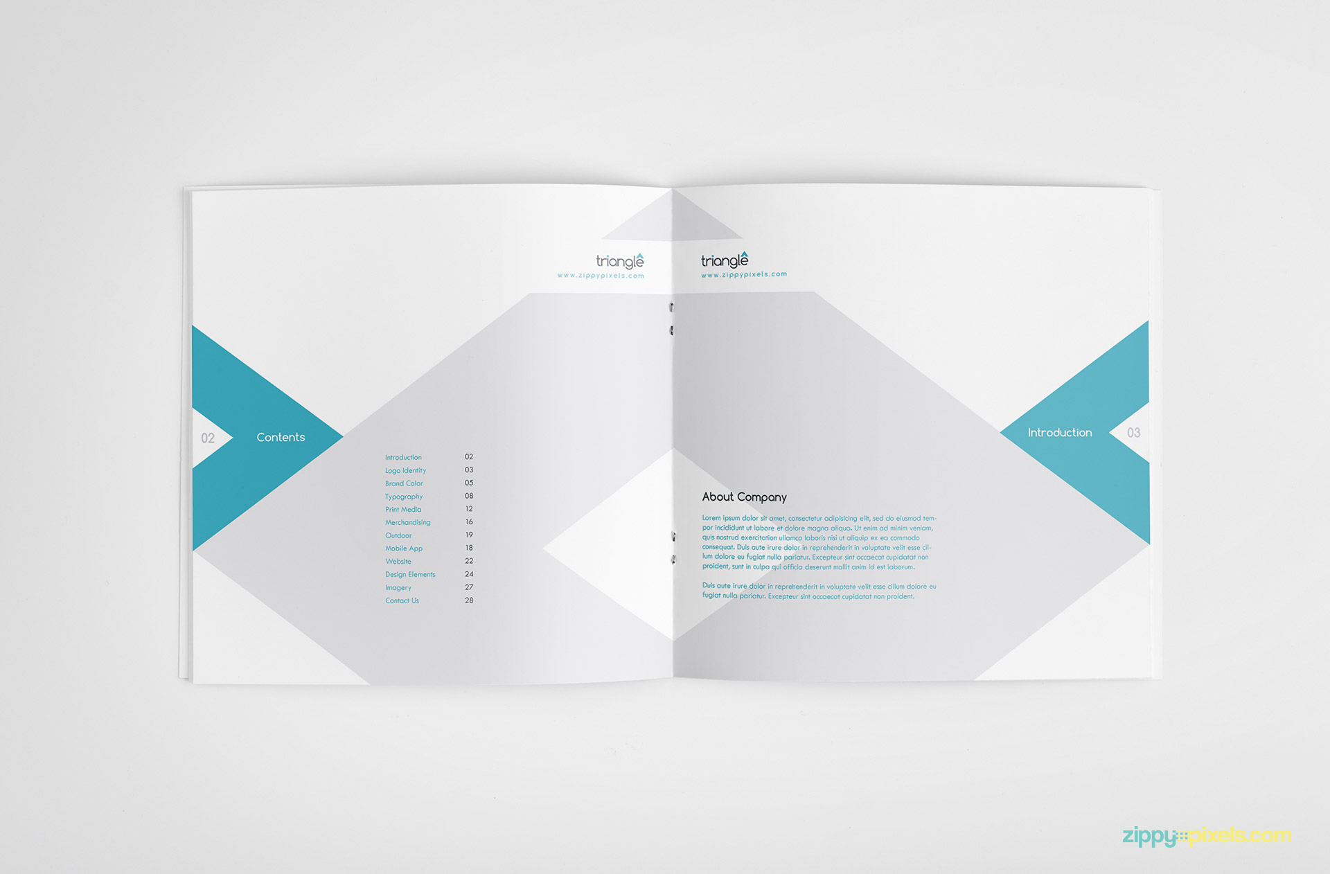 clean brand guidelines manual template brandbook zippypixels