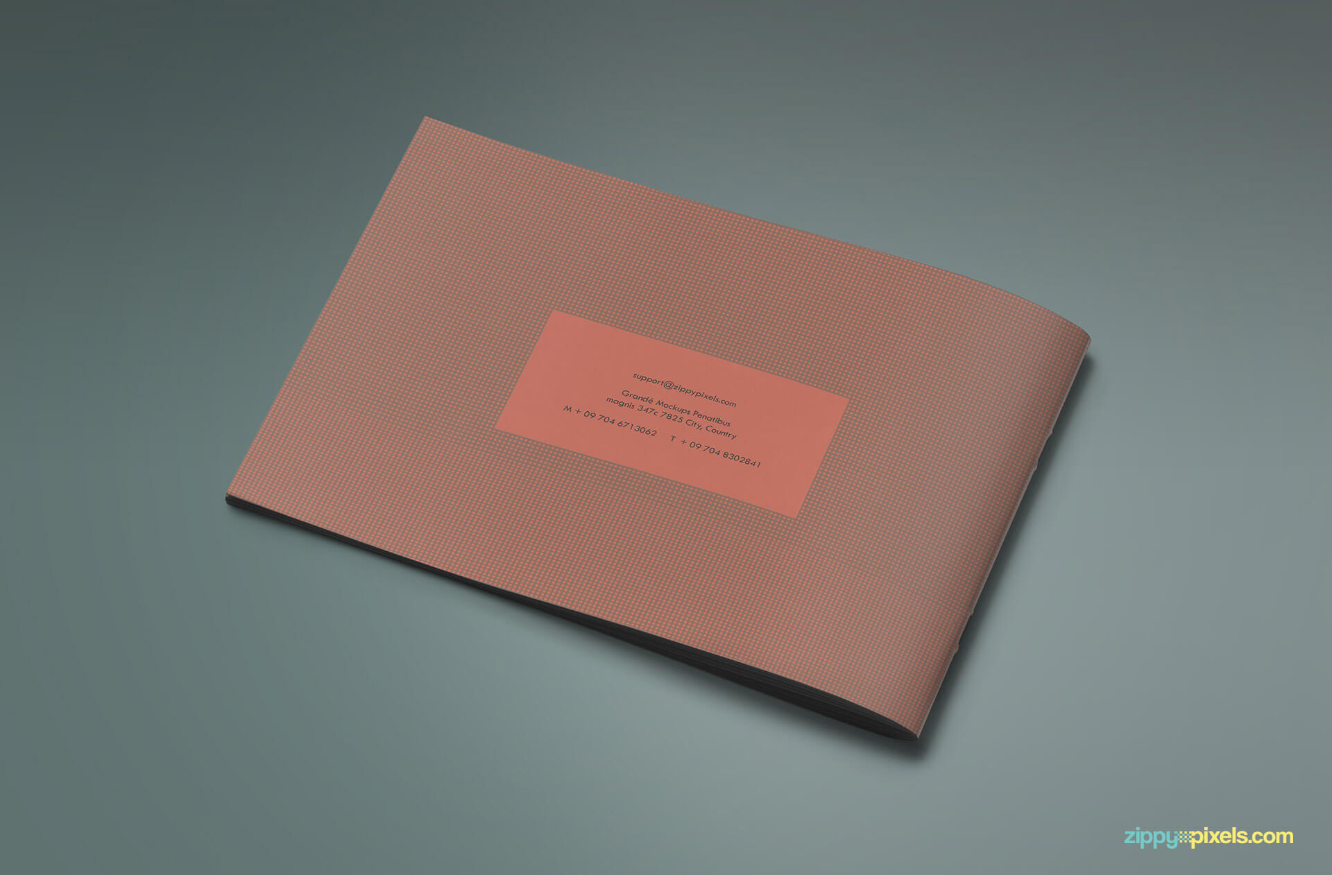 Back Cover of Brand Book - Brand Guidlines Template