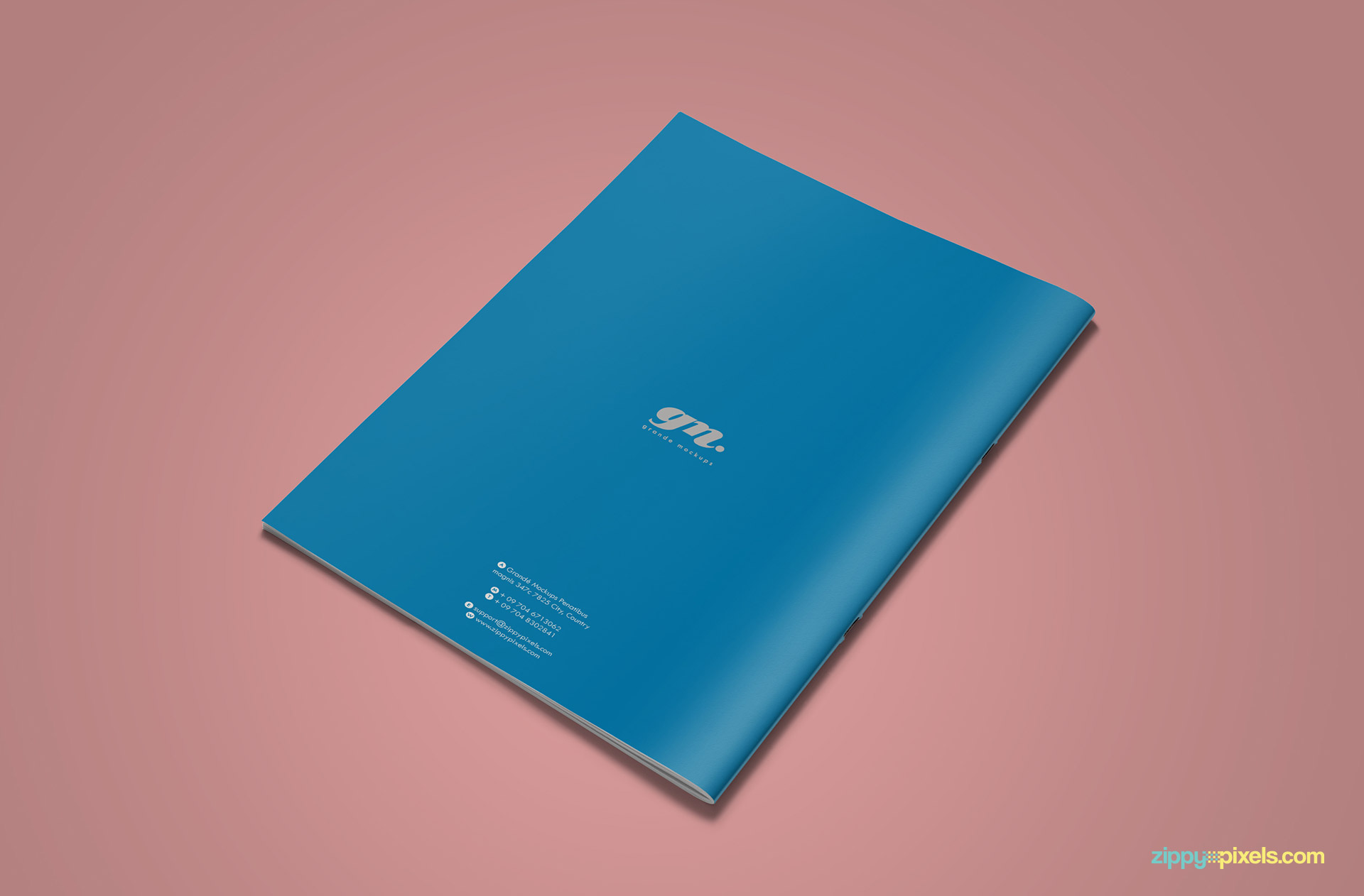 Back Cover of Clean Brand Book Template for Corprate Identity