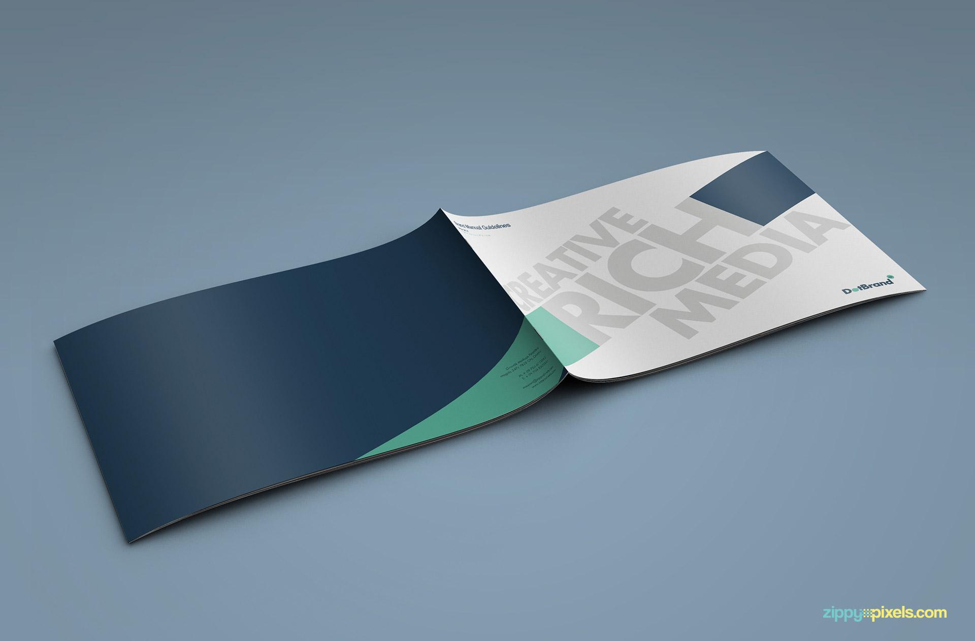 Creative Brand Identity Guidelines Template : ZippyPixels
