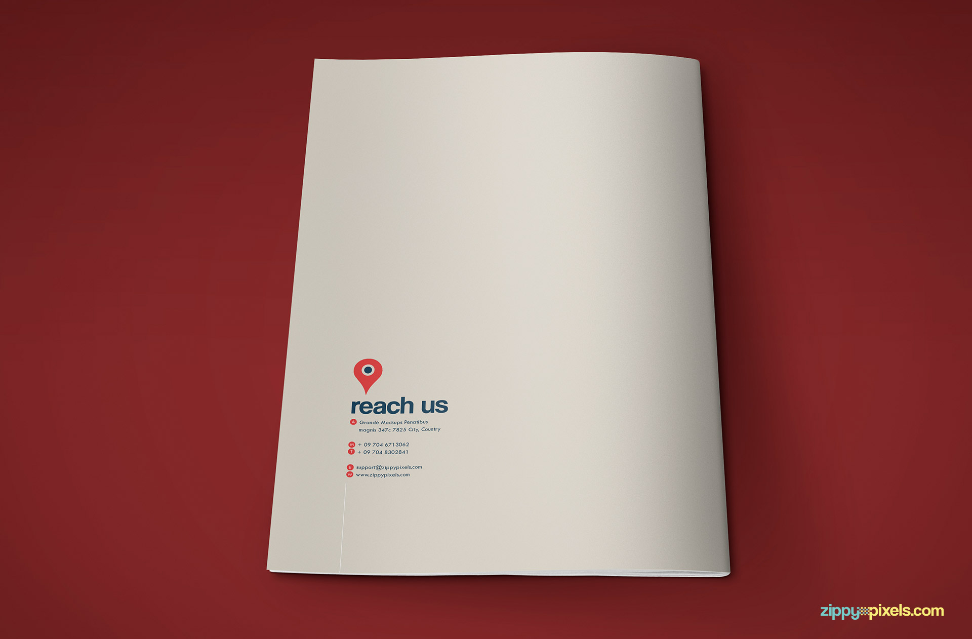 Back Cover of Professional Brand Guidelines Template