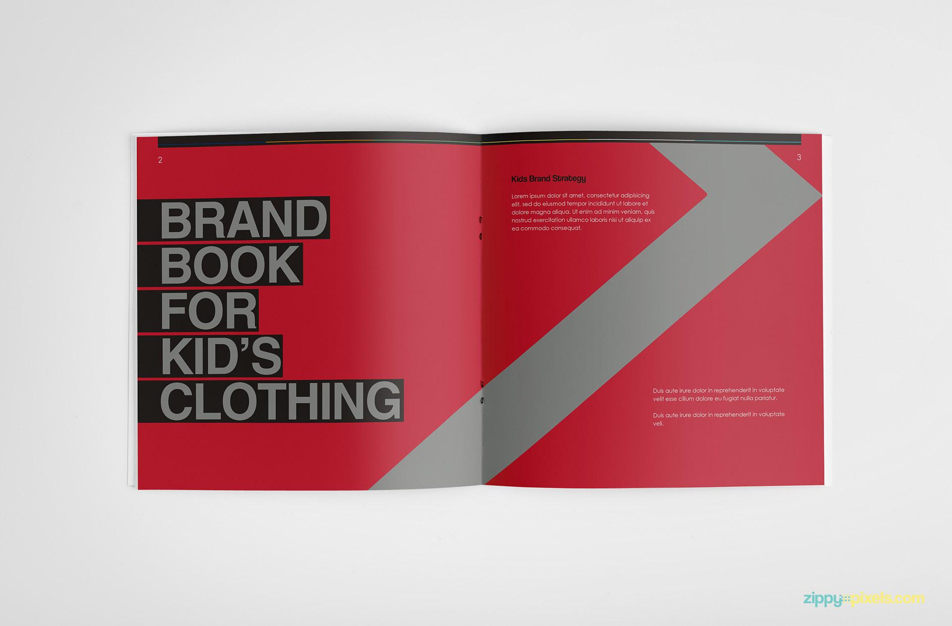 brand identity guidelines template brandbook zippypixels. Black Bedroom Furniture Sets. Home Design Ideas