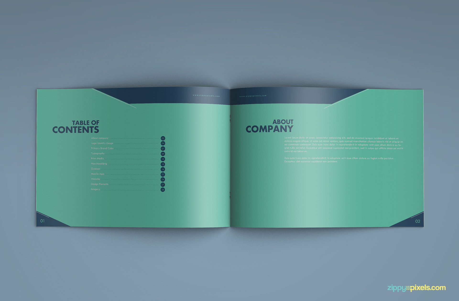 Creative Brand Identity Guidelines Template Zippypixels