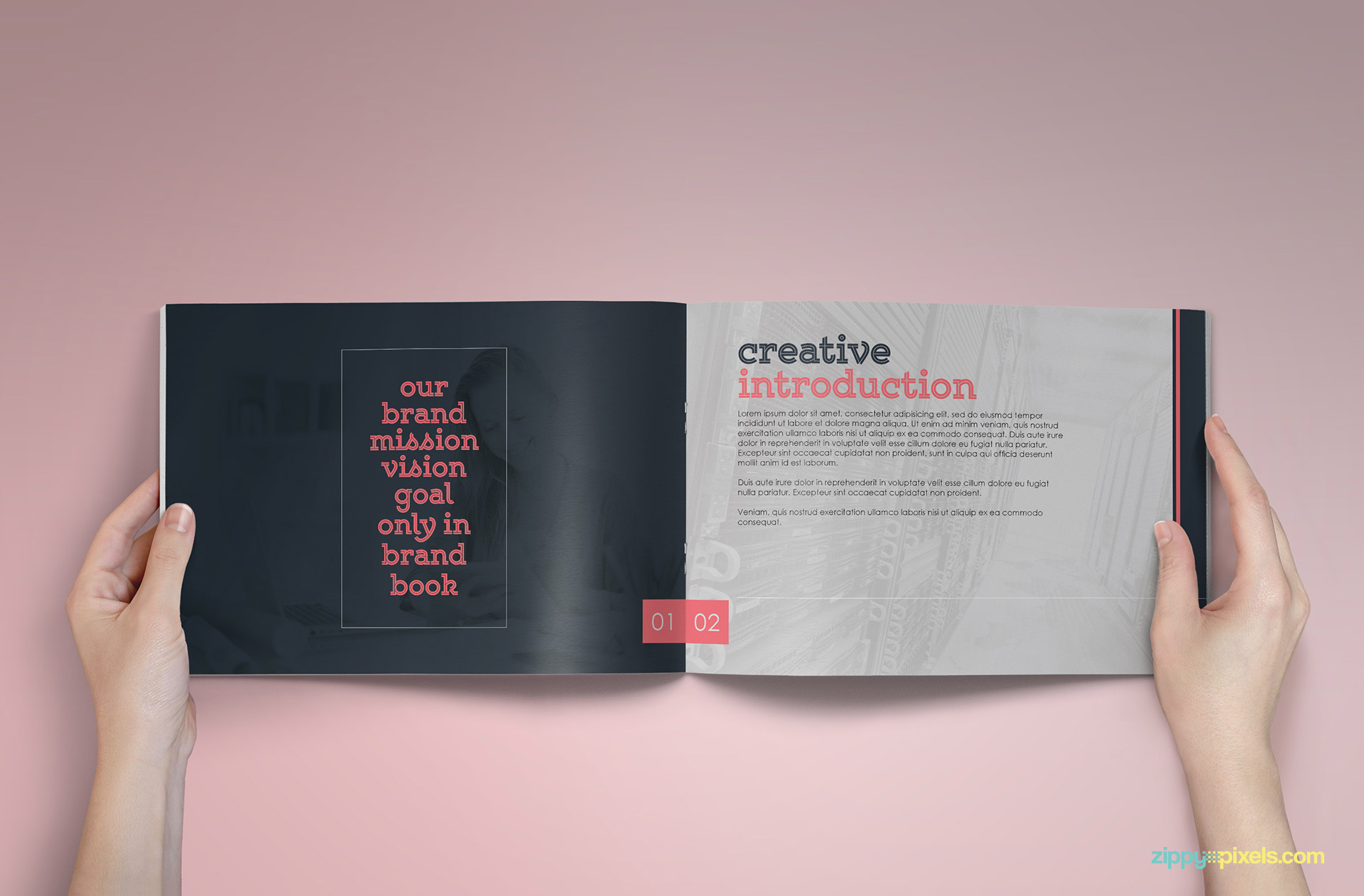brandbook classic branding guidelines template zippypixels. Black Bedroom Furniture Sets. Home Design Ideas