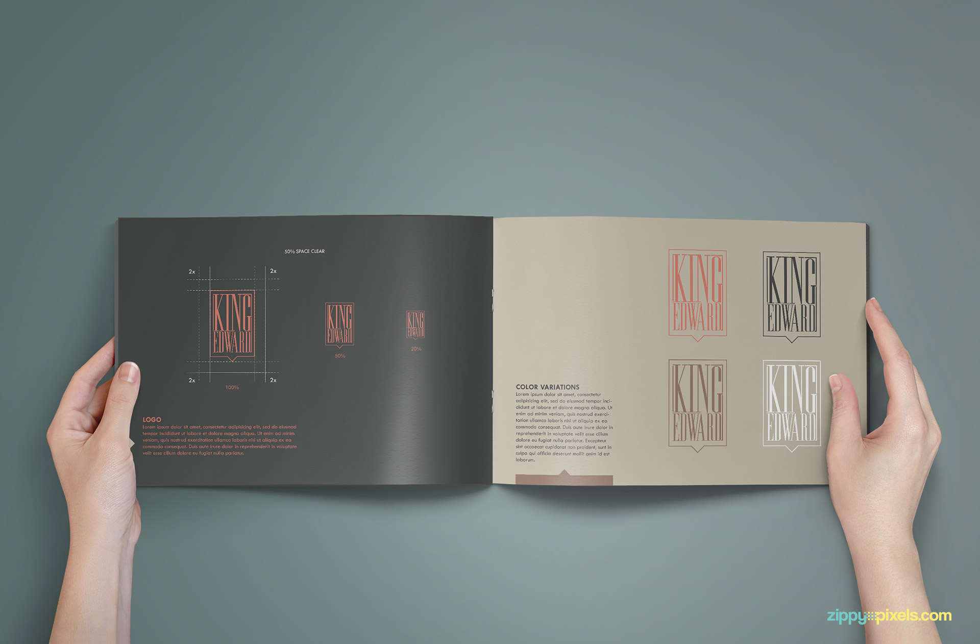 Brand Book - Brand Guidlines Template-Logo Identity Usage