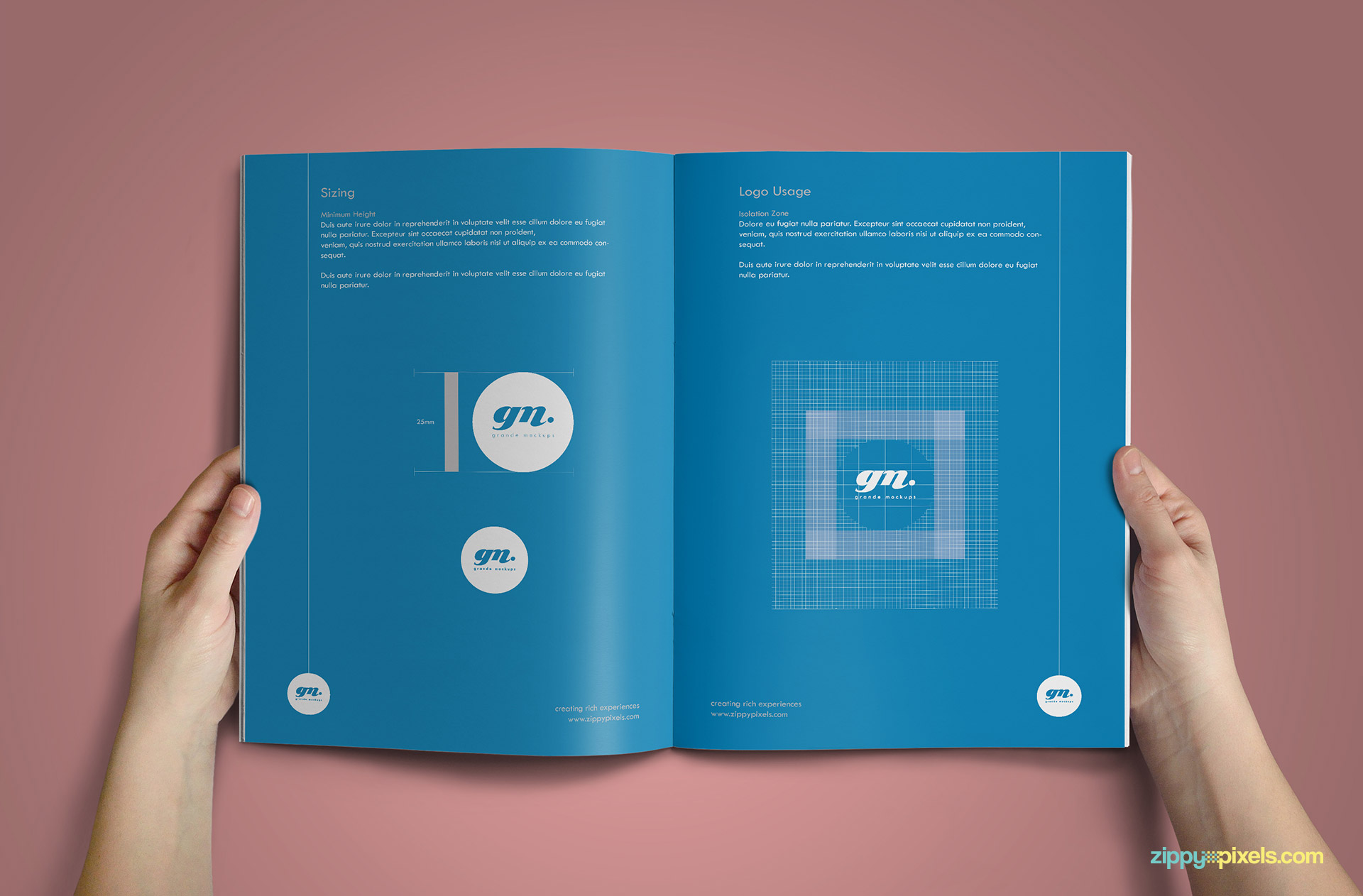 Clean Brand Book Template - Logo Guidelines