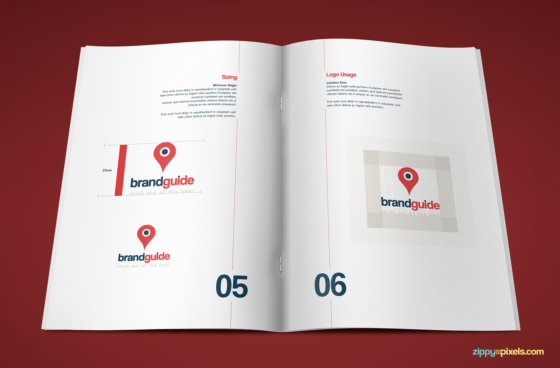 Logo Usage Page of Professional Brand Guidelines Template