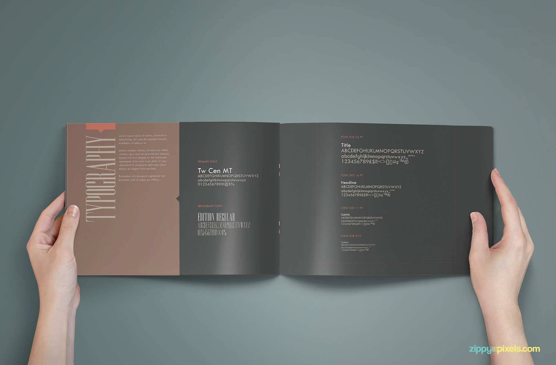 Brand Book - Brand Guidlines Template-Typography
