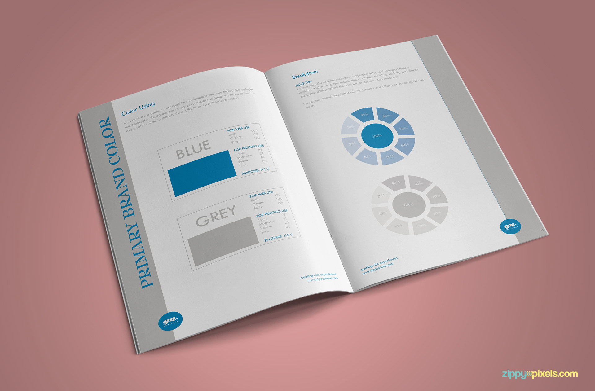 Clean Brand Book Template - Brand Color Guidelines