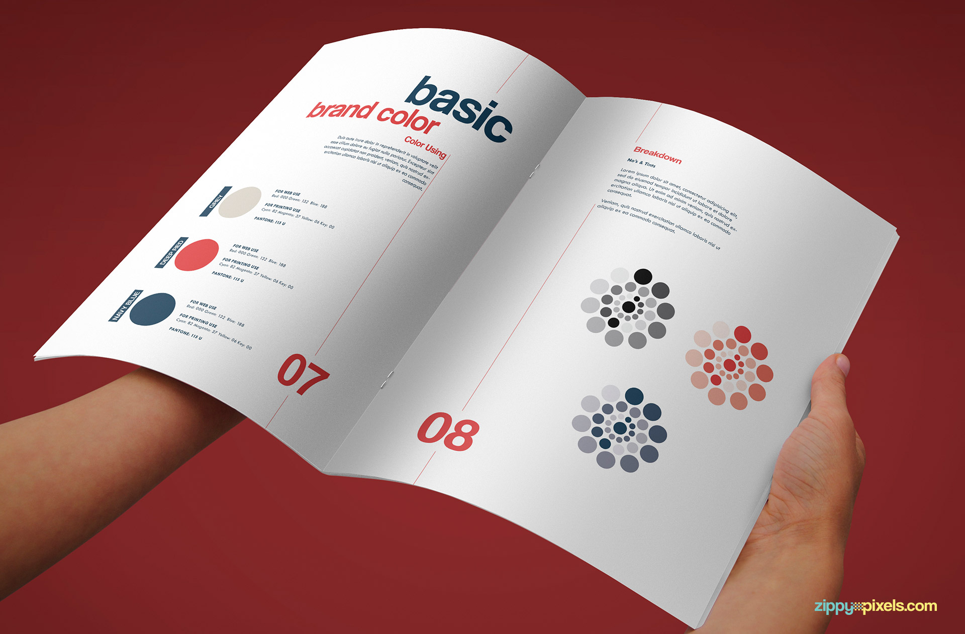 Brand Colors Page of Professional Brand Guidelines Template