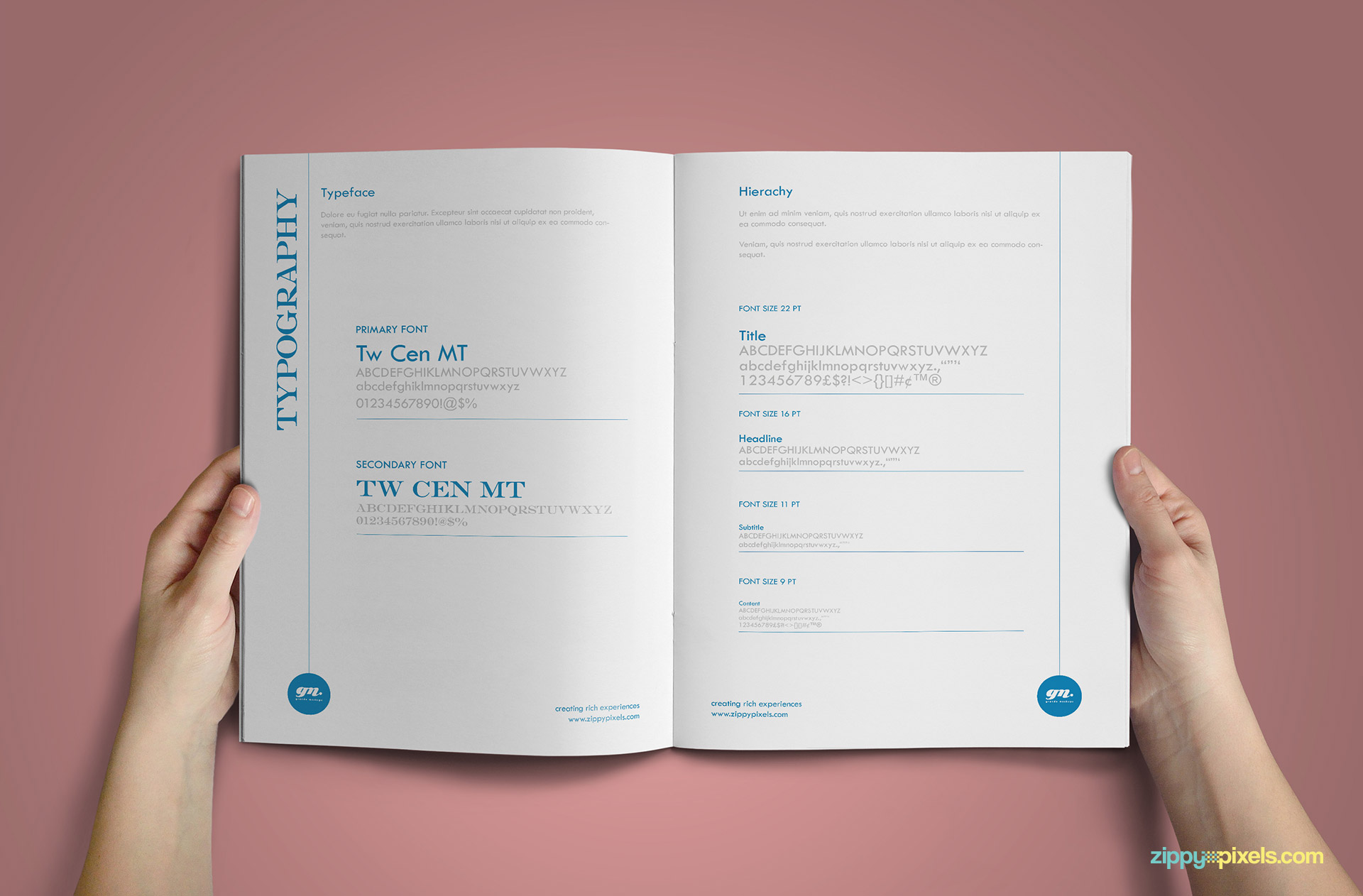 Clean Brand Book Template - Corporate Identity Guidelines for Typography