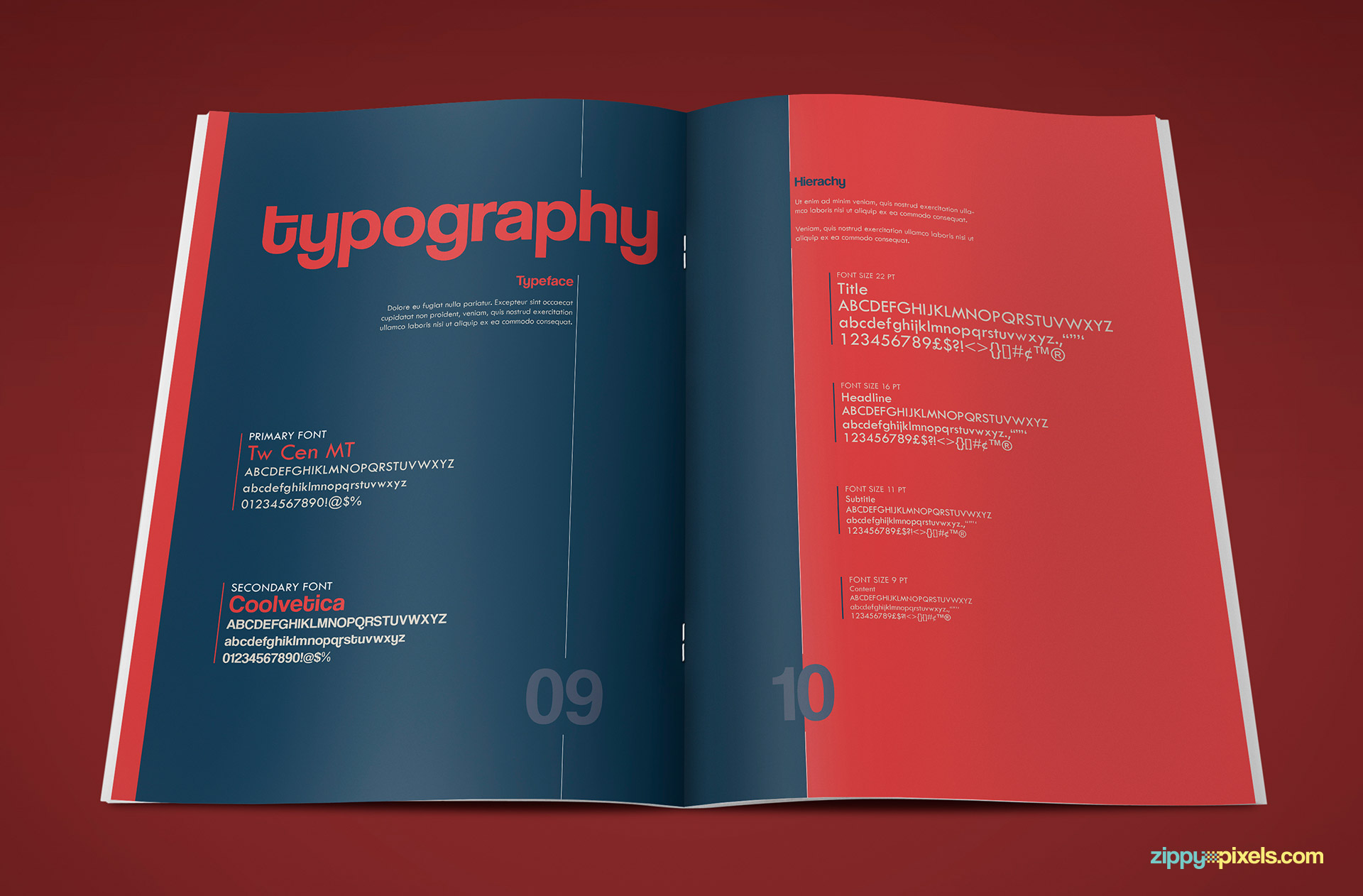 Typography Page of Professional Brand Guidelines Template