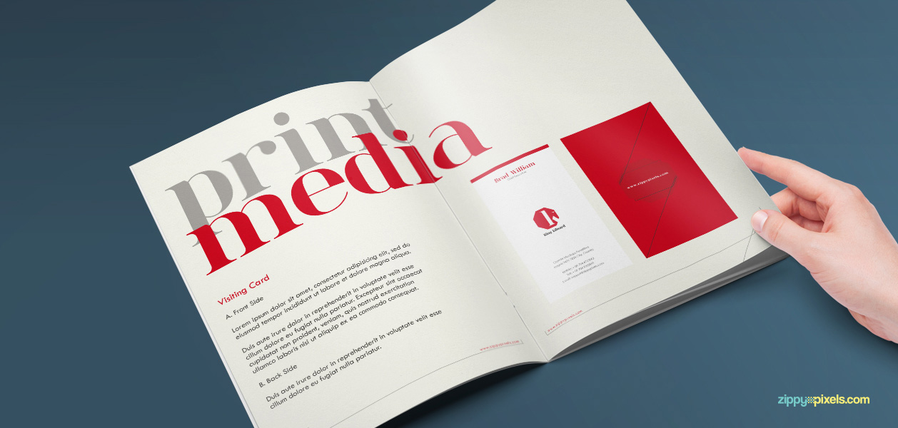 Corporate Identity Guidelines Template Brand Book Zippypixels