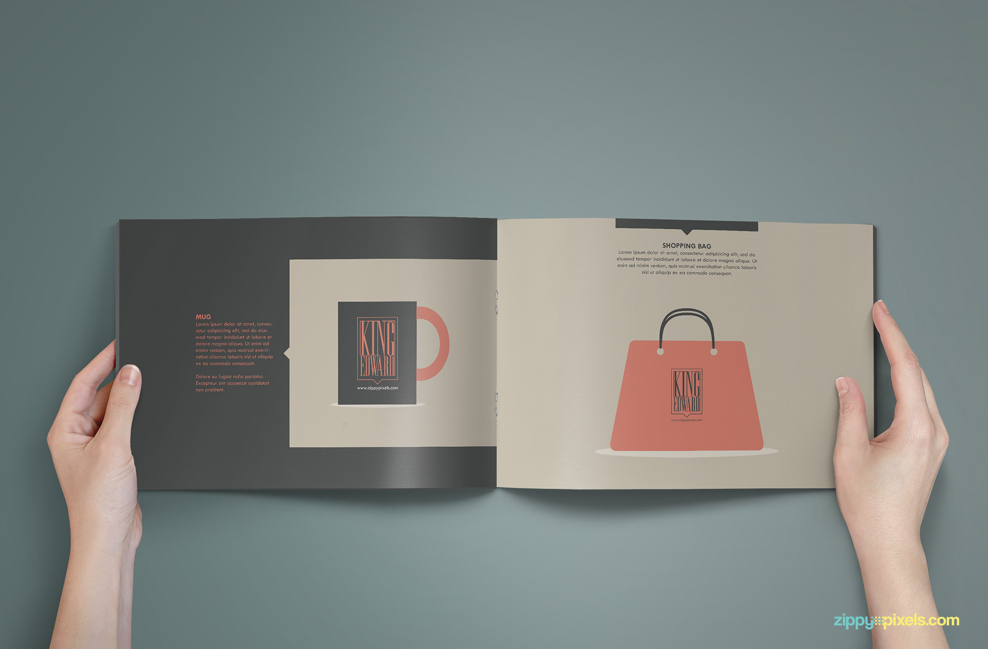 Brand Book - Brand Guidlines Template-Merchandising Page 2