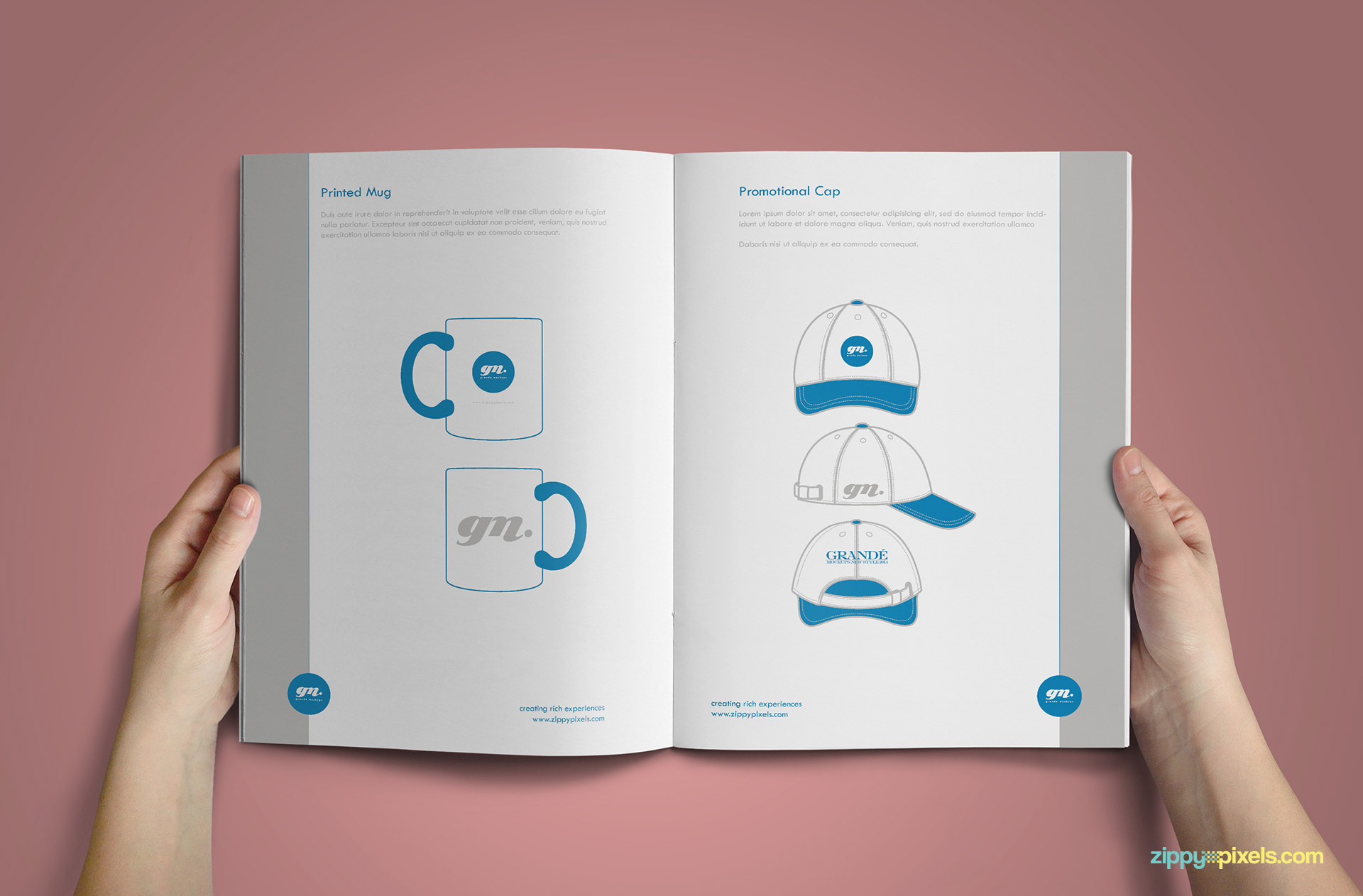 Clean Brand Book Template for Corprate Identity - Merchandising