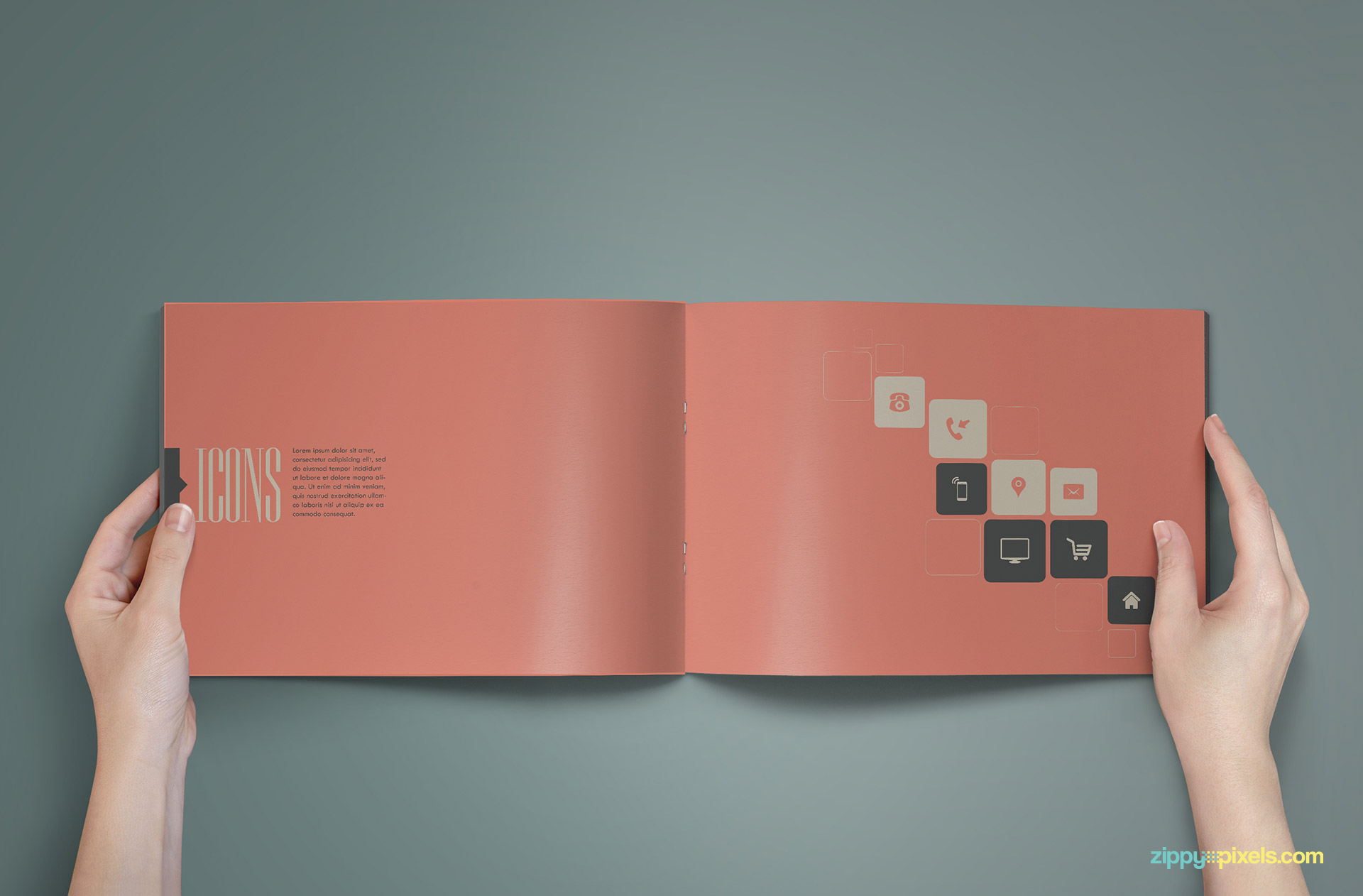 Design Elements Page of Brand Book - Brand Guidlines Template