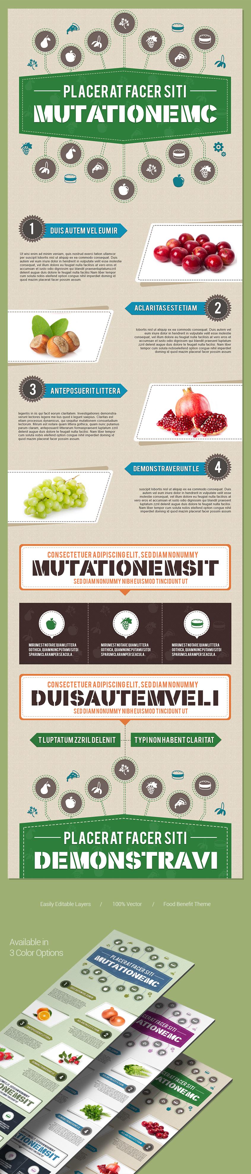 Simple-infographics-design-template-fruit-vector-elements-presentation