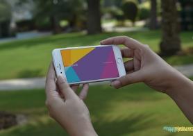 Photorealistic iPhone 6s Mockups Volume 1 (Outdoor)