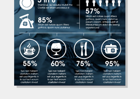 Food Infographics Template for Restaurant