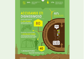 Green Business Infographics Template