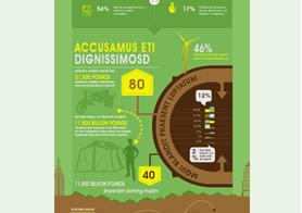 Green Business Infographics Template