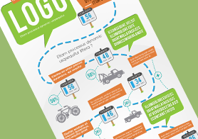 Creative Infographics Road Map Template