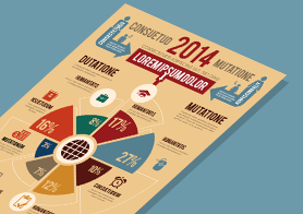 Diagram lovers' Infographics Template (3 color themes)