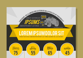 Vehicles – 100% Vector Infographics PSD Template set