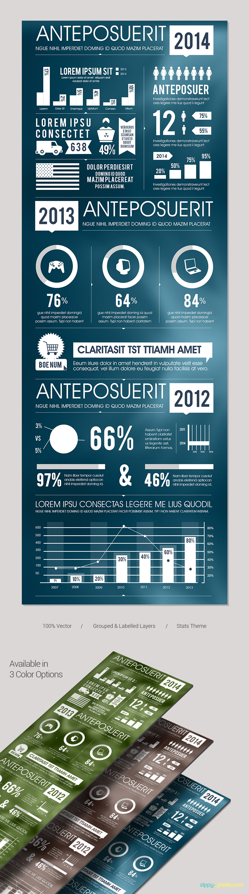 Business-infographics-template-stats-graphs-charts-presentation
