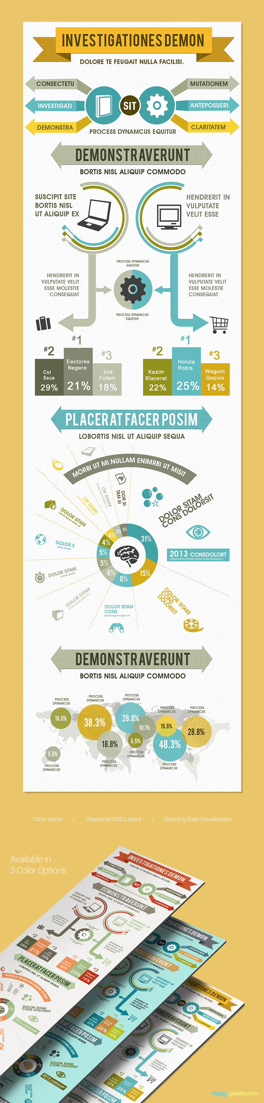 Infographics PSD Template for Product Comparison ZippyPixels