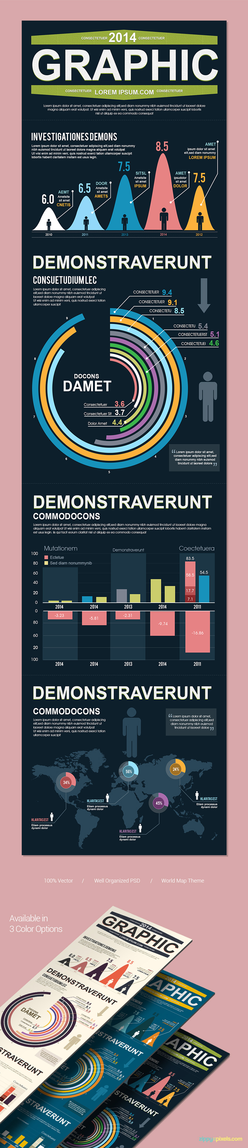 Financial-infographics-vector-psd-template-presentation