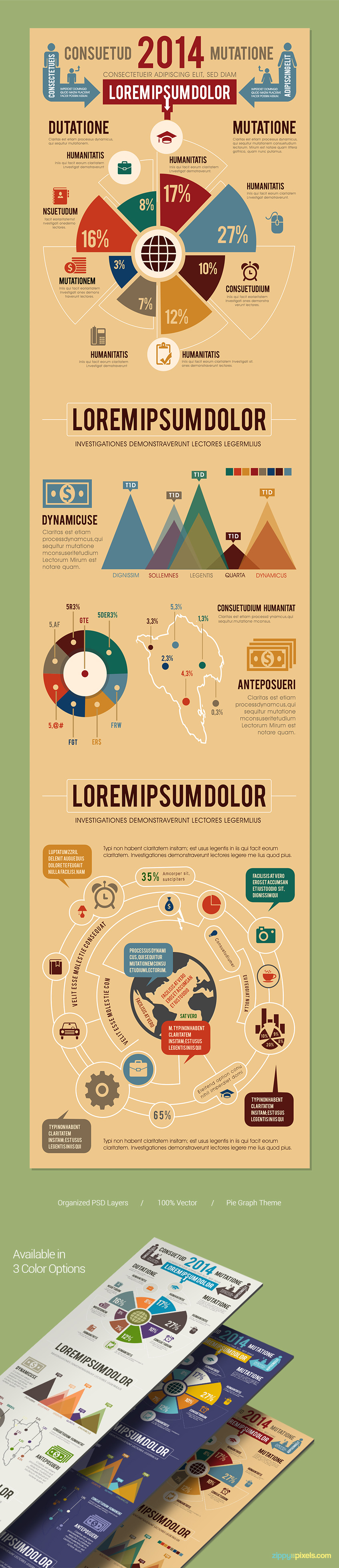 Infographics-template-graphs-charts-vectors-presentation