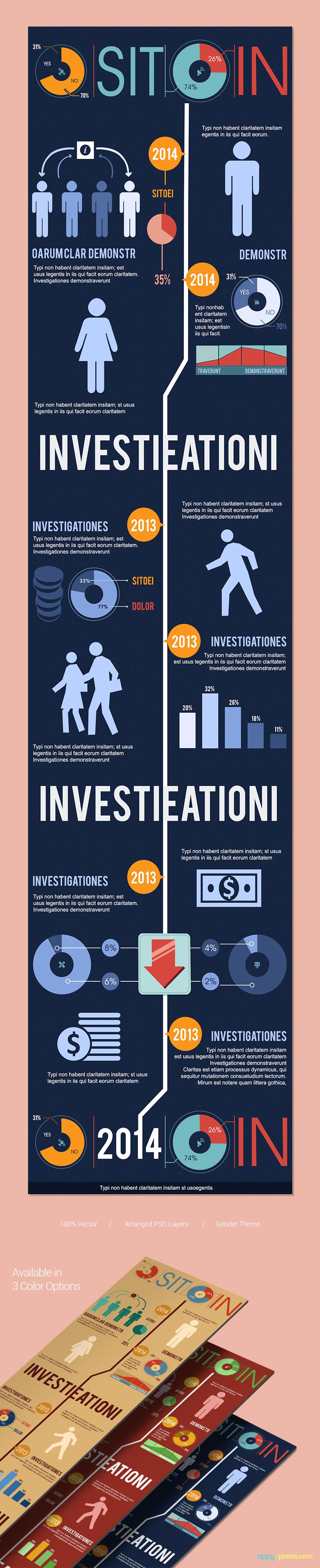 Minimal-design-infographics-template-timeline-presentation