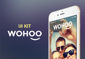 WOHOO – FREE Mobile UI KIT