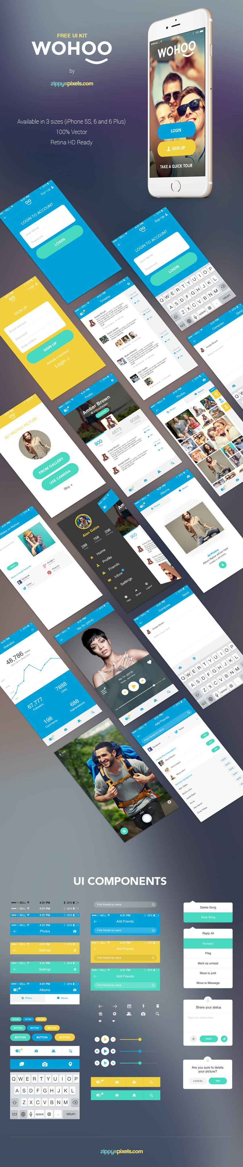 Wohoo Free Ui Kit for IOS8