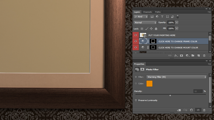 Customizable Layered PSD Frame Mockup